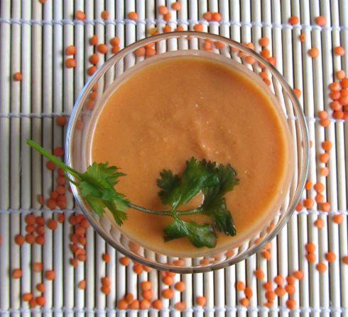 Soup lentils coco