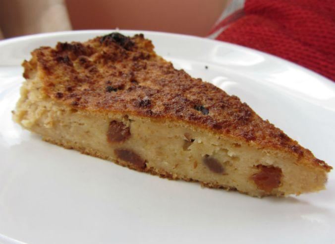 Bread pudding slice