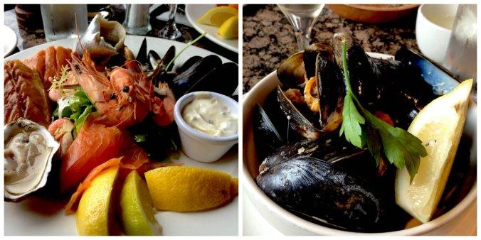 collage seafood