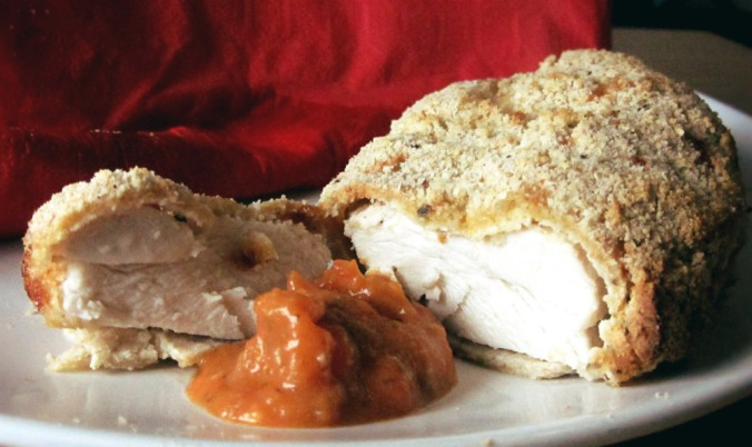 Almond crust chicken 1