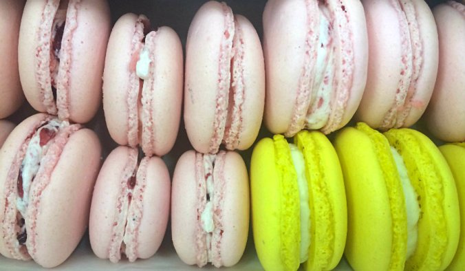 macaroons stacked